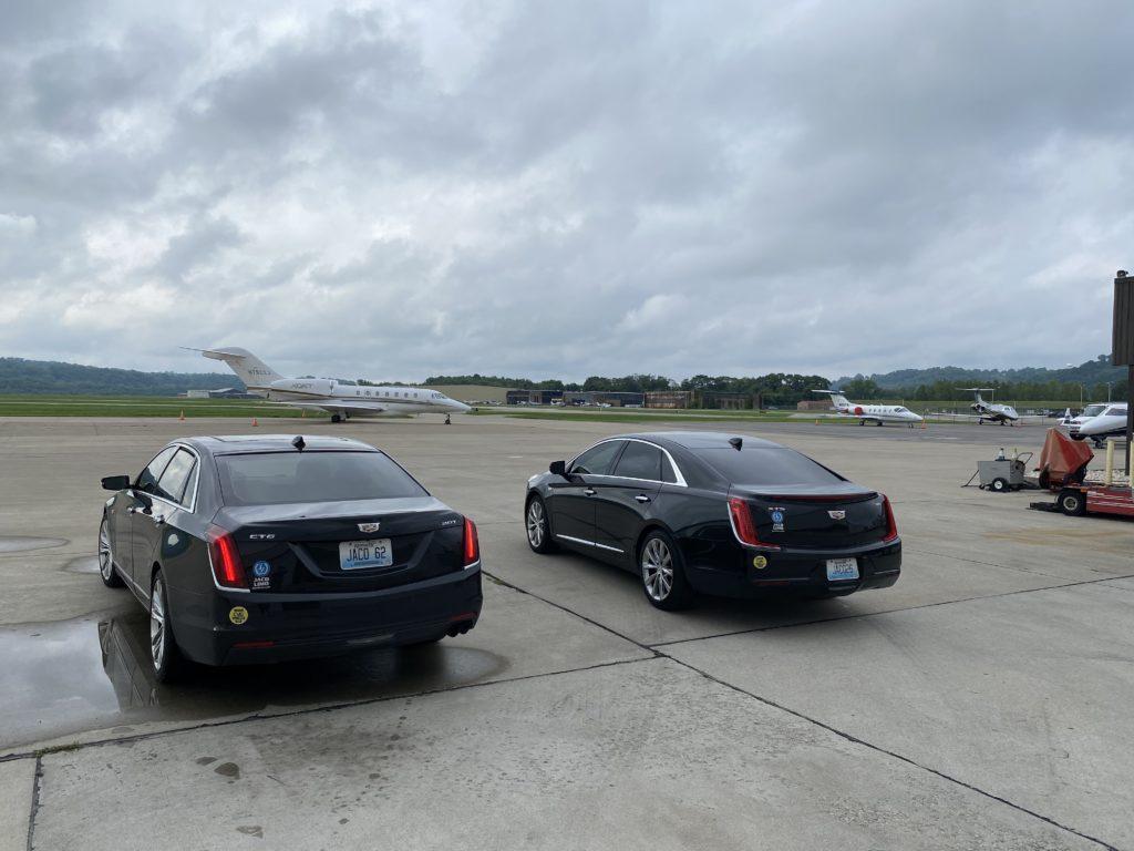 JACO Limo Sedans on Tarmac at Signature Aviation Lunken Airport
